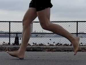 Barefoot heel striking – who'da thunk it possible!